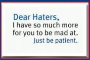 hatersbepatient